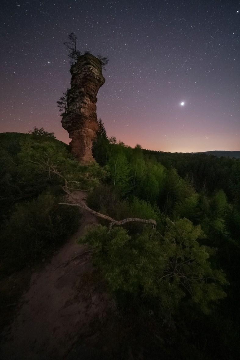 Lämmerfelsen bei Neumond © Raik Krotofil