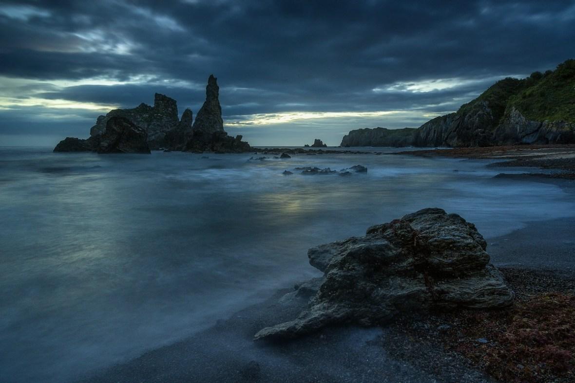 Playa Castelliu Blue rainy Morning
