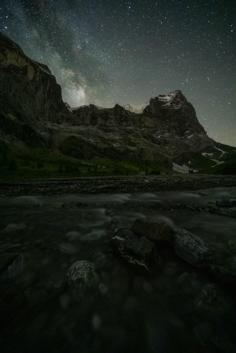 Fotografieren in den Bergen Rosenlaui Wetterhorn © Raik Krotofil
