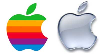 Apple Logo, Then and Now