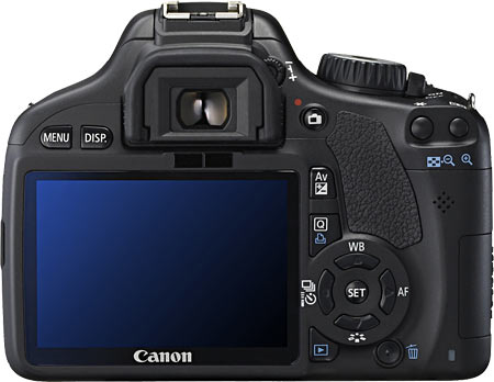 Canon EOS T2i / 550D (Back View)