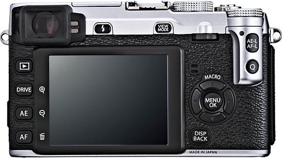 Fujifilm X-E1 Back View