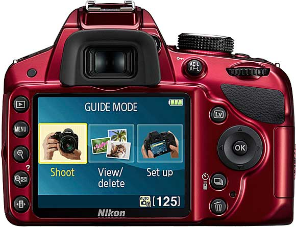 Nikon D3200 Back View