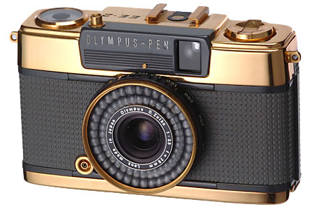 May 1968 - Olympus PenEE2 - Gold Version - To commemorate 2 million Pen cameras sold
