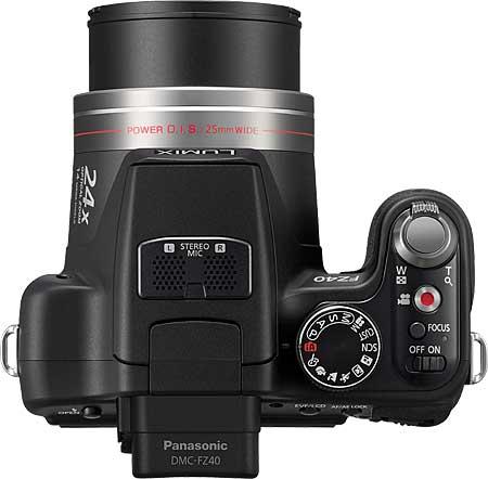 Panasonic Lumix DMC-FZ40 Top View