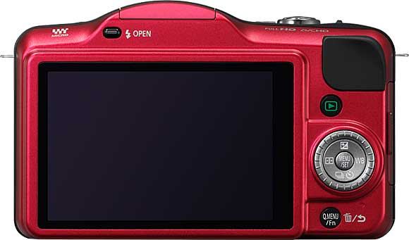 Panasonic Lumix DMC-GF3 Back View