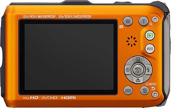 Panasonic LUMIX DMC-TS4 Back View