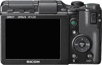 Ricoh GXR Back View