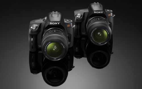 Sony alpha DSLR-A390 and A290