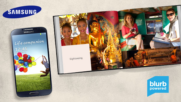 Blurb and Samsung partner to power mobile book creation.
