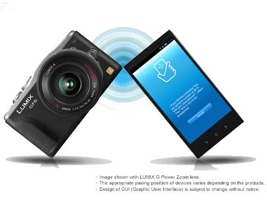 Panasonic DMC-GF6 with the Wi-Fi® connectivity featuring NFC (Near Field Communication) technology