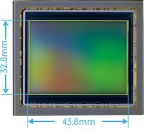 PENTAX 645Z large CMOS sensor (Actual size)