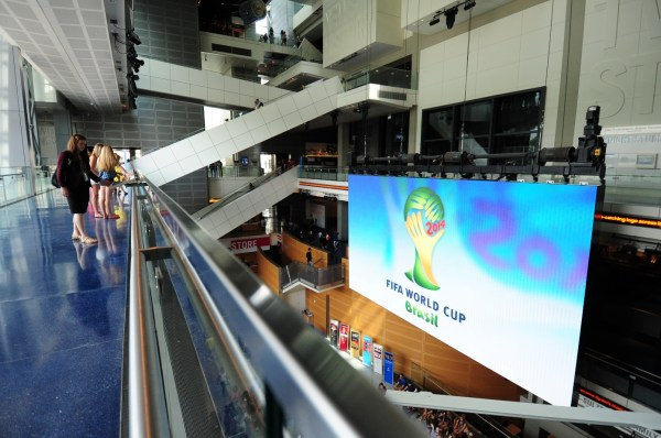 Newseum Displays AFP's World Cup Photo Coverage. Image courtesy Newseum and AFP.