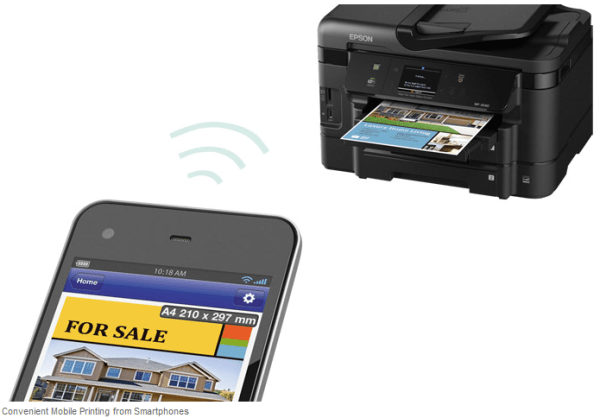 Use Epson Connect™ to print and scan from anywhere, including your iPad, iPhone, tablet, or smartphone.