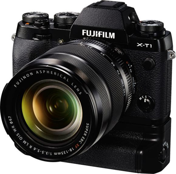 Fujifilm X-T1 with the FUJINON XF18-135mm R LM OIS WR Kit Lens and optional Vertical Battery Grip VG-XT1