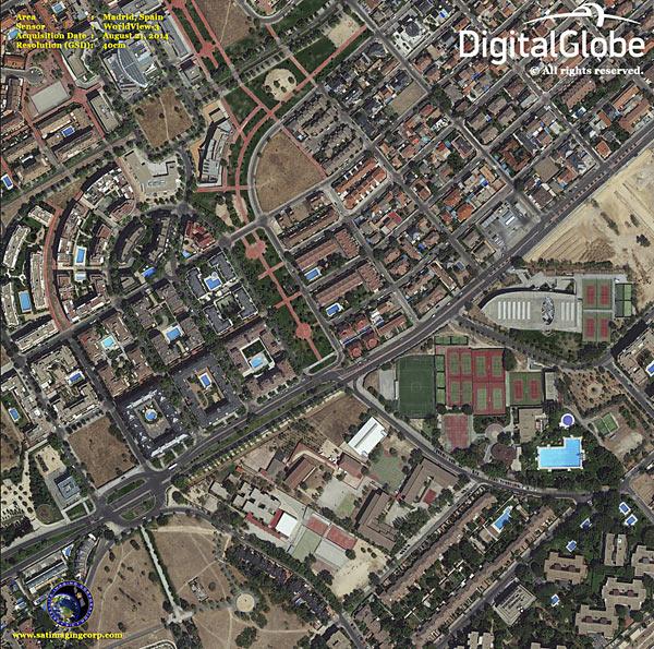 Madrid From Space. DigitalGlobe