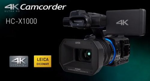 Panasonic Digital 4K Camcorder, HC-X1000