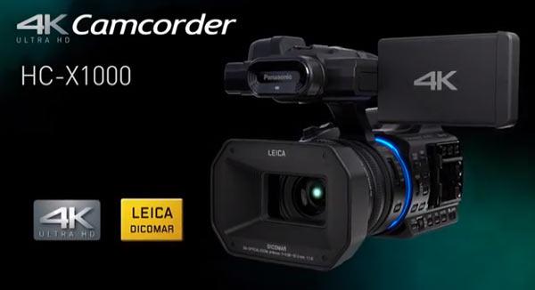 Panasonic 4K X1000 advanced camcorder