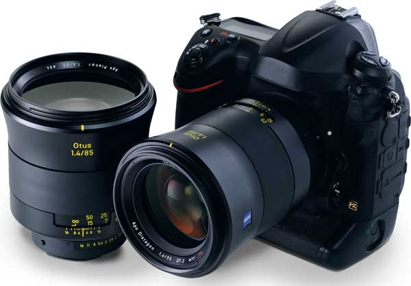 The current Otus lens family consisting of ZEISS Otus 1.4/85 and ZEISS Otus 1.4/55.