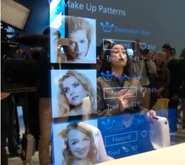 Panasonic 'Future Mirror': Image extracted from the video above.
