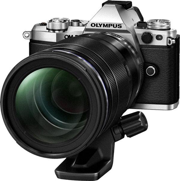 Olympus OM-D E-M5 Mark II, silver, with M.ZUIKO® DIGITAL PRO lens