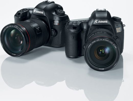 Left to right: Canon EOS 5DS R and Canon EOS 5DS