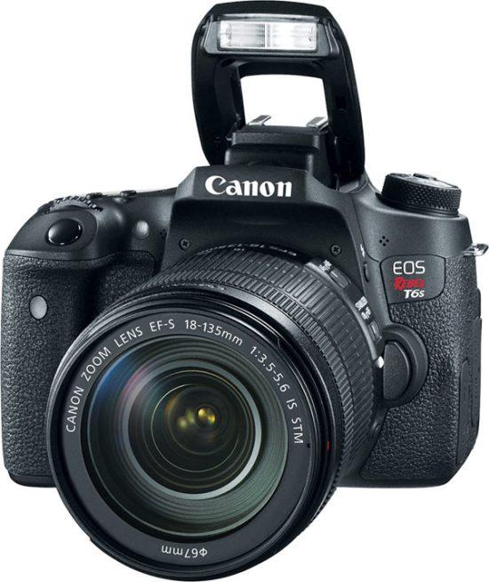 Canon EOS Rebel T6s, flash