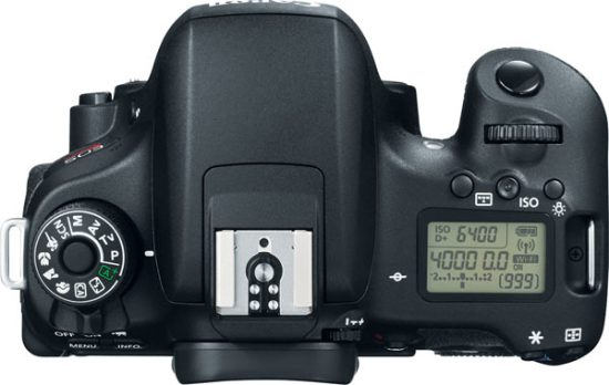 Canon EOS Rebel T6s: top LCD panel