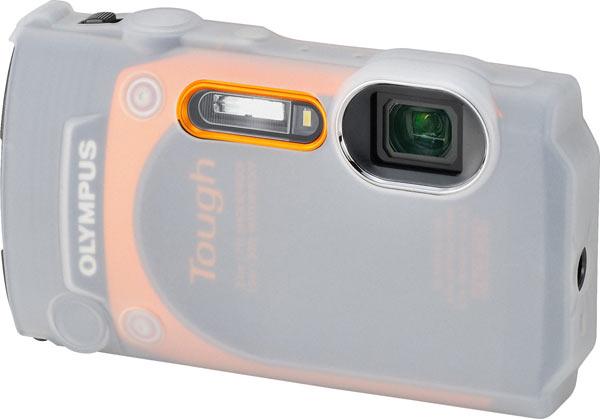 Olympus Stylus Tough TG-860, orange, with CSCH-124 Silicone Jacket