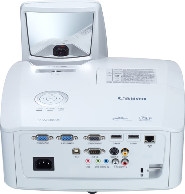 Canon Ultra-short Throw Multimedia Projector LV-WX300UST, front
