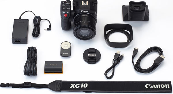 Canon EOS XC10 and EOS system accessories