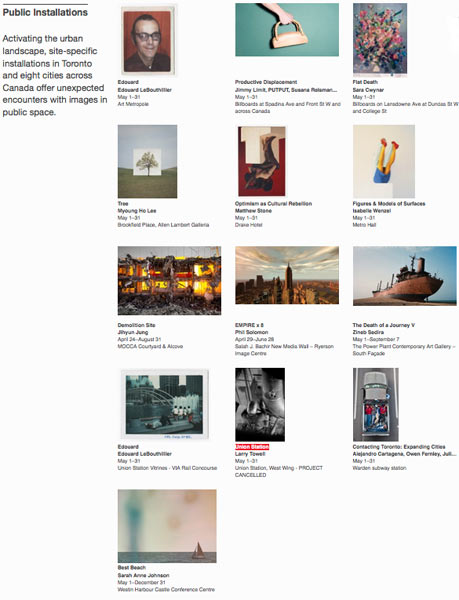 Scotiabank CONTACT Photography Festival: Public Installations