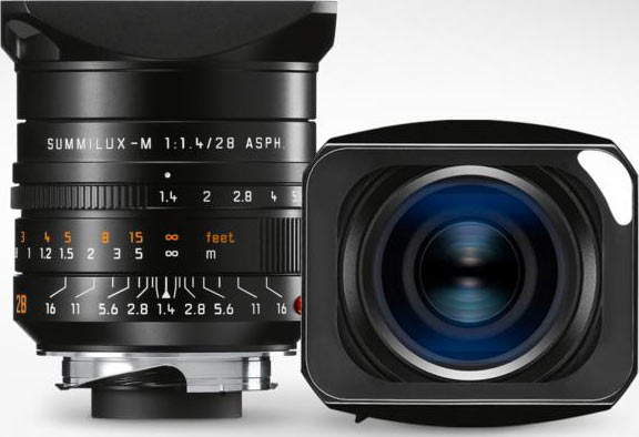 Leica Summilux-M 28 mm f/1.4 ASPH. with an all-metal lens hood