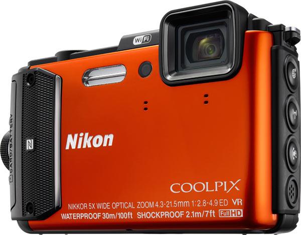Nikon COOLPIX AW130, orange
