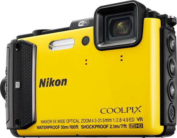 Nikon COOLPIX AW130, yellow