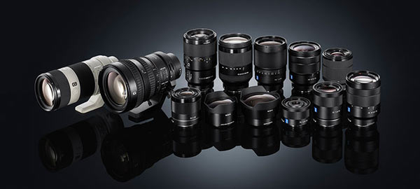 Sony FE lenses (35mm full-frame compatible E-mount lenses)