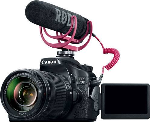 Canon EOS 70D DSLR Camera with 18-135mm Lens Video Creator Kit