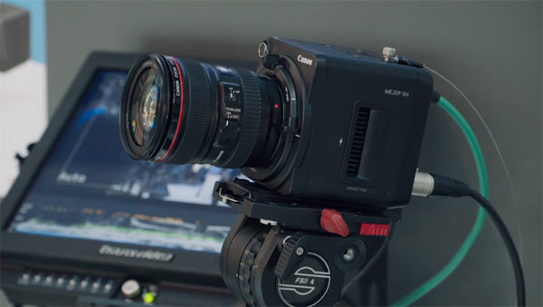 Canon ME20F-SH high definition video camera: Image grab from second video below