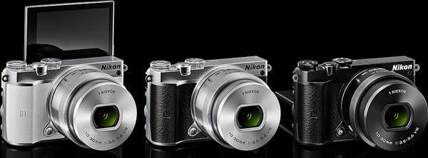 Nikon 1 J5: (left to right) white, silver, black: Image Courtesy of Design for Asia Awards