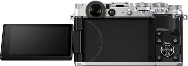 Olympus PEN-F's vari-angle, touch-enabled LCD monitor lets users compose Live View shots from a low angle