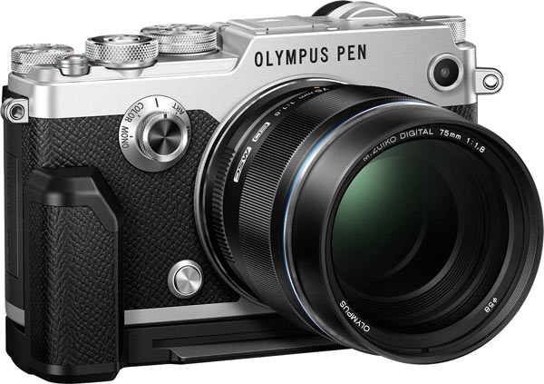Olympus PEN-F with optional Grip (ECG-4) and M.Zuiko 75mm F1.8