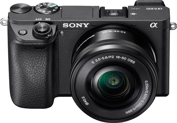 Sony α6300 with a 16-50mm F3.5 – F5.6 kit lens (model SELP1650)