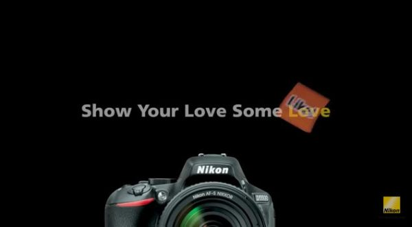 "Nikon's ""Show Your Love Some Love"" Campaign: Image grab from video above"