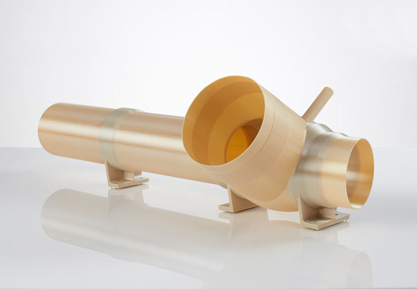 Numerous components were 3D printed with FDM for the Atlas V ducting system in the rocket's payload fairing. (Photo: Business Wire)