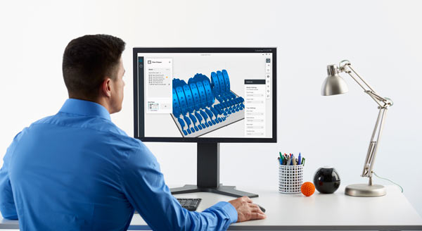 The GrabCAD Print solution's easy-to-use and intuitive print preparation environment removes typical complexities from the design-to-3D print process (Photo: Stratasys)