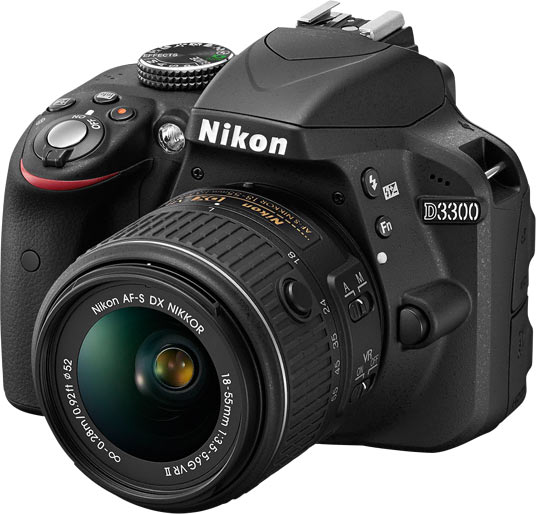 Nikon D3300 D-SLR with 18-55mm VR lens kit