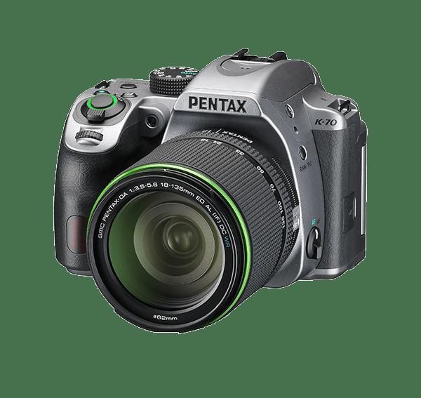 Pentax K-70 (Silver) with SMC PENTAX-DA 18-135mm F3.5-5.6 ED AL IF DC WR lens