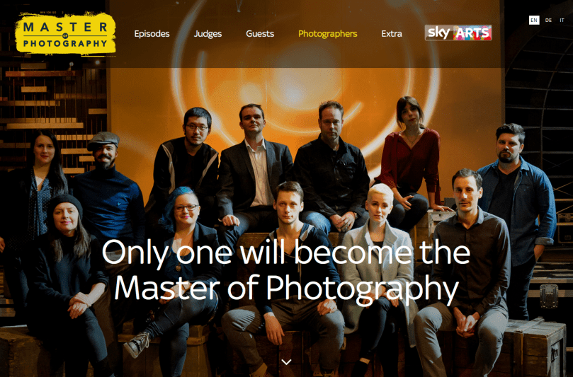 Sky Arts Master of Photography TV Talent Show