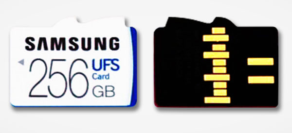 Samsung 256GB UFS removable memory card