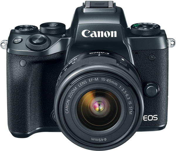 Canon EOS M5 with EF-M 15-45mm/F3.5-6.3 IS STM zoom kit lens